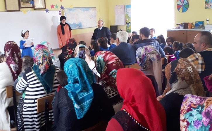 Çilehane Köyü Fatma Kara İlkokulu'nda İstiklal Marşı Programı